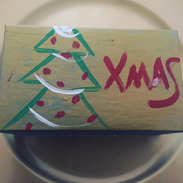 This box was hand painted by a young girl I met volunteering last week at a children's group home. This box will be available on our website for auction, December 5.  The winner can select any flavor of truffle to be put in the box. 100% of the proceeds will be given directly to this group home.  Please share with everyone and place your bid. #canvaschocolate #holidayofgiving #happyholidays