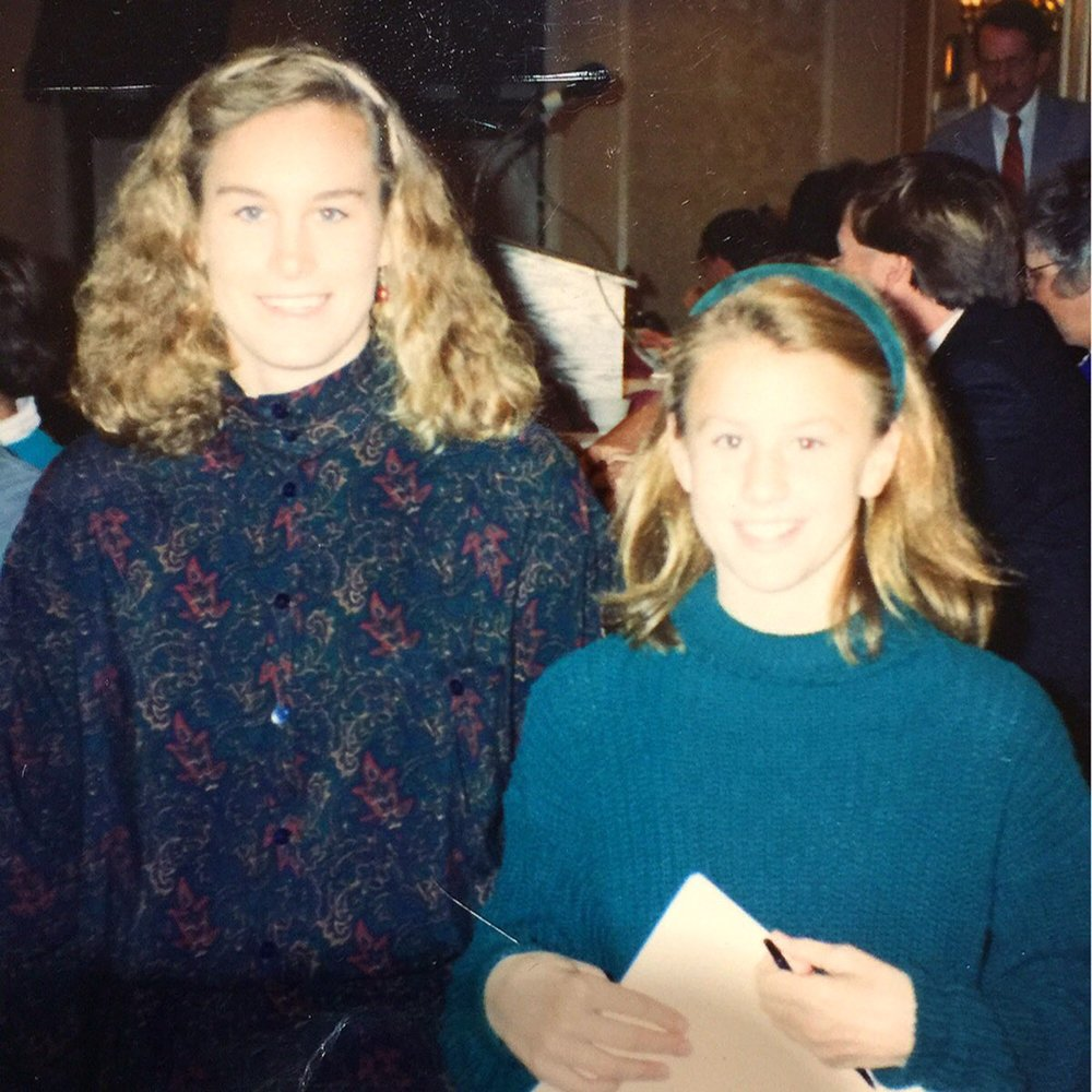 10-year-old me with Olympian Jill Johnson - the night that changed my life forever