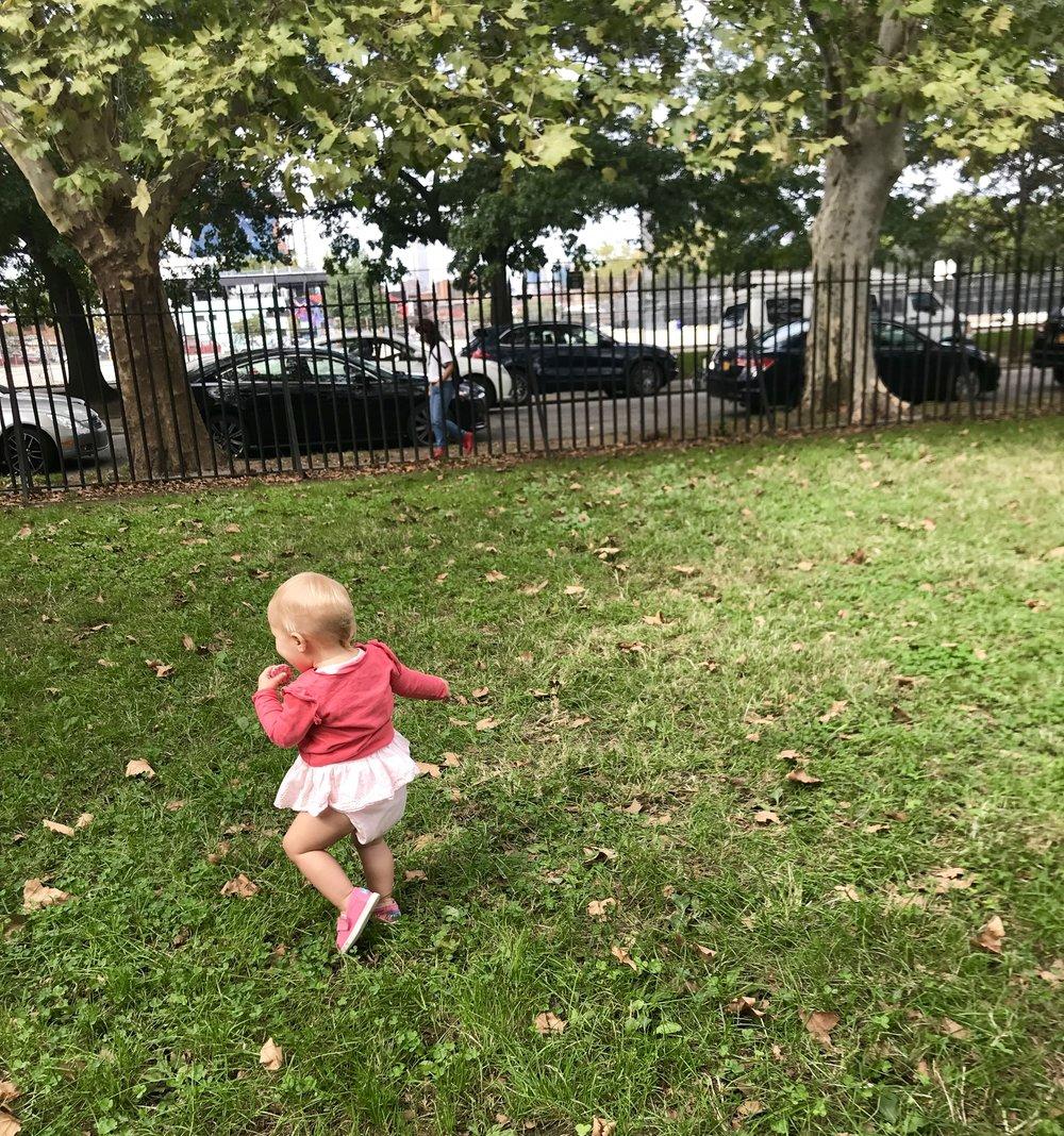 Running through McCarren Park