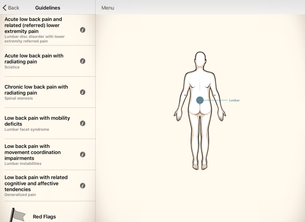 Integrates movement analysis related to common conditions