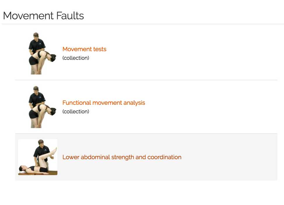 movement faults