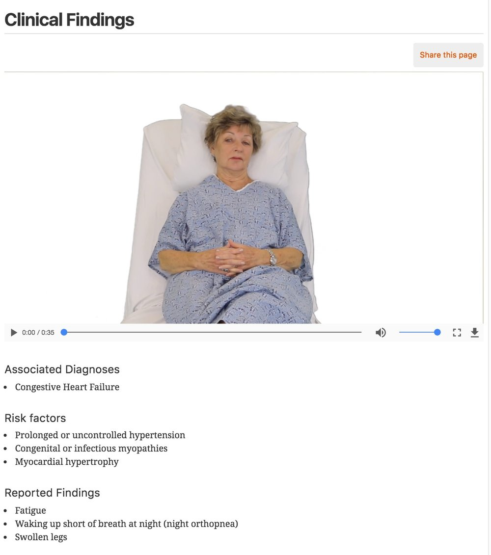 Watch videos of patient complaints