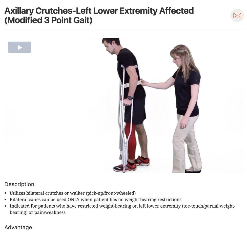 Axillary crutches