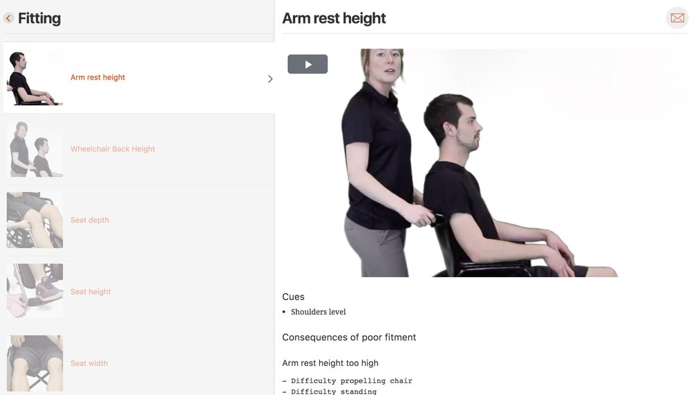 arm rest height
