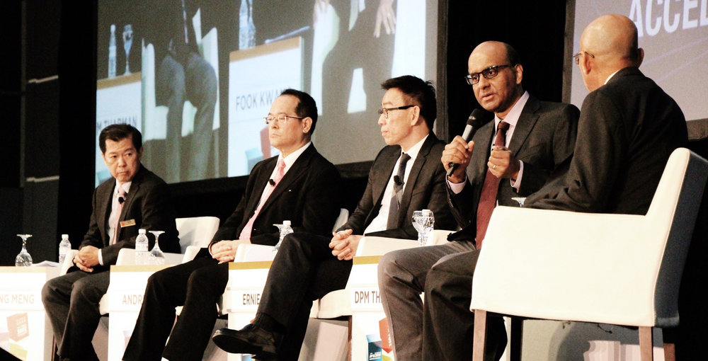 Deputy Prime Minister of Singapore, Mr Tharman Shanmugaratnam in dialogue at the 19th Infocomm Commerce Conference 2016