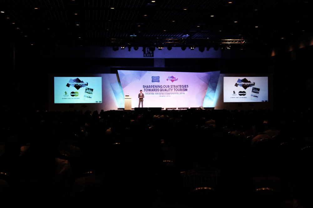 CEO of the Singapore Tourism Board, Mr Lionel Yeo, giving his opening speech at Tourism Industry Conference 2016