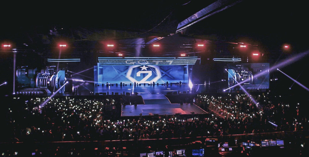 Adoring fans waiting for  South Korean boy group sensation, Got7, to come on stage