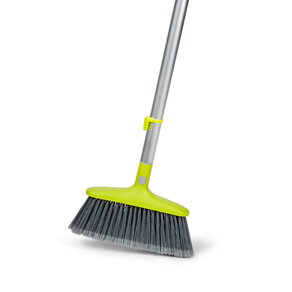 Telescopic Broom - Premium quality soft nylon bristles.Perfect for all floor types.Does not scratch laminate floors.Rugged telescopic aluminium handle.Adjusts from 57cm – 123cm.Quick, easy lock, unlock system.Collapses and clips to Bloom bucket for easy storage.Product Code – BLMTELEBRMInner Carton Qty - 4Master Carton Qty – 24