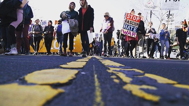 A still from our shoot on Monday at the #MLKMarch in Oakland. Were you there too? #mlkday #120hours #mlk #protest #taketothestreets #raiseyourvoice #peacefulprotest #hellnauguration #oakland #eastbay #documentary #filmmaking #bts #behindthescenes
