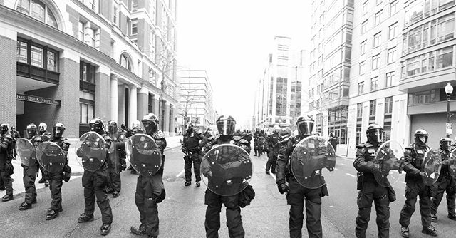 Washington D.C. is packed with protestors on all sides and police in riot gear. The director for 73 Days Later just took this photo outside Capitol Hill. Please be safe out there. #73dayslater #trumpsamerica #documentary #documentaryfilm #protest #police #riotgear #inaugurationday2017 #behindthescenes #filmmaking #trump #dayone #makeamericagreatagain #maga #picoftheday #riotpolice #protests #staysafe #washingtondc #capitolhill