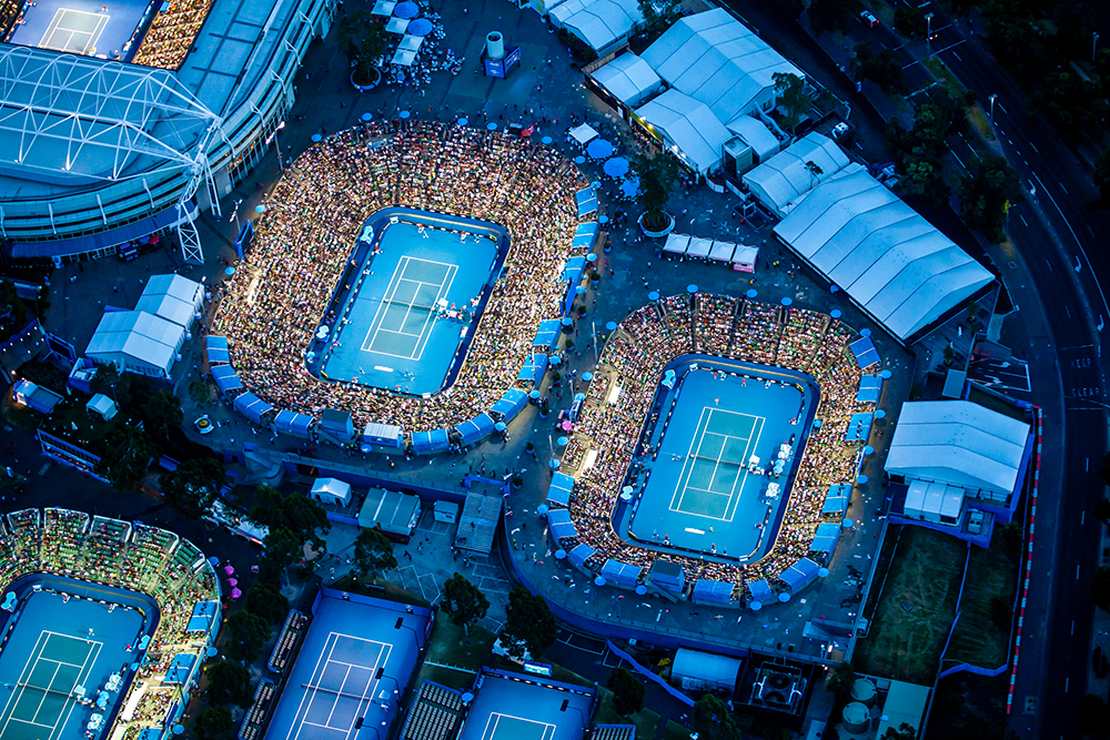 The Australia Open Aerial photograph