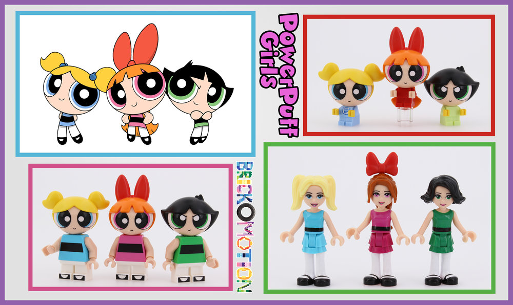 Power Puff Girls in LEGO Forms