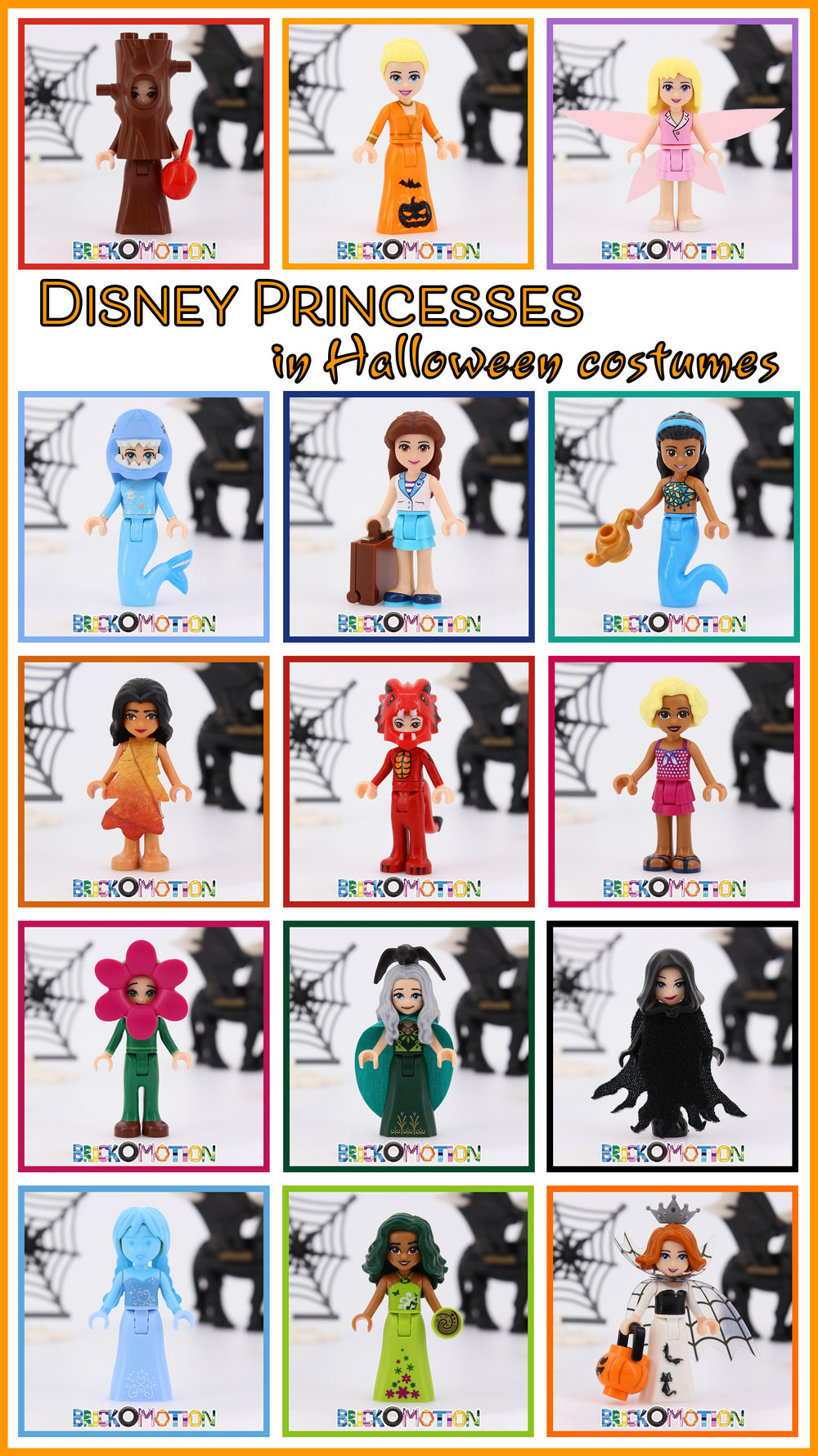 Disney Princesses in Halloween Costumes