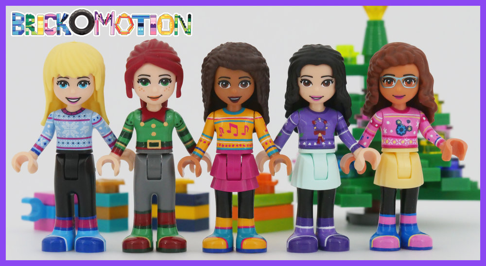 LEGO Friends in Custom Holiday Outfits
