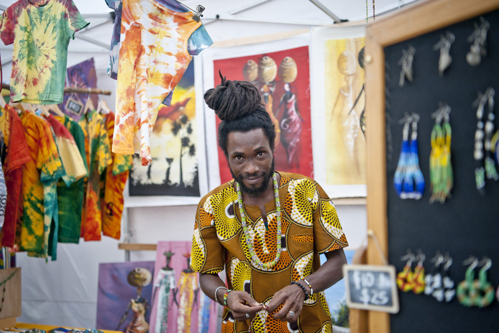 Local artist and stall holder,  Nana Yepa