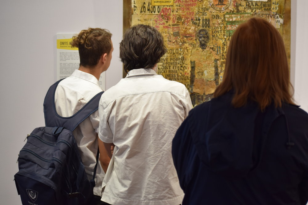Workshops were followed by a tour of the Kerry Packer Civic Gallery where Sanaa Exhibition was held.