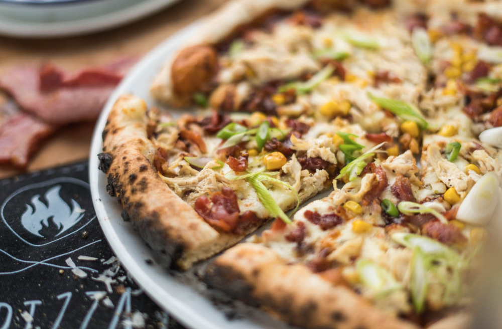 Home made BBQ Chicken pizza at Bath Pizza Co.Images © Green Park Brasserie