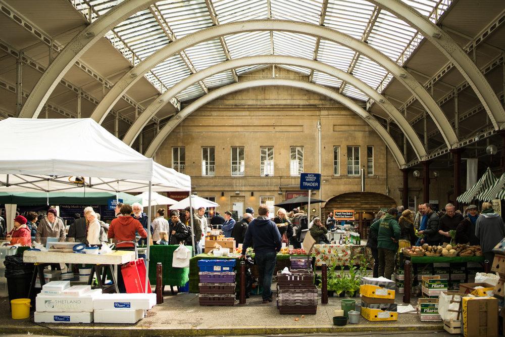 Bath Farmers' Market at Green Park Station