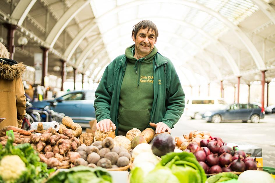 Chris Rich, Bath Farmers' Market, Green Park Station