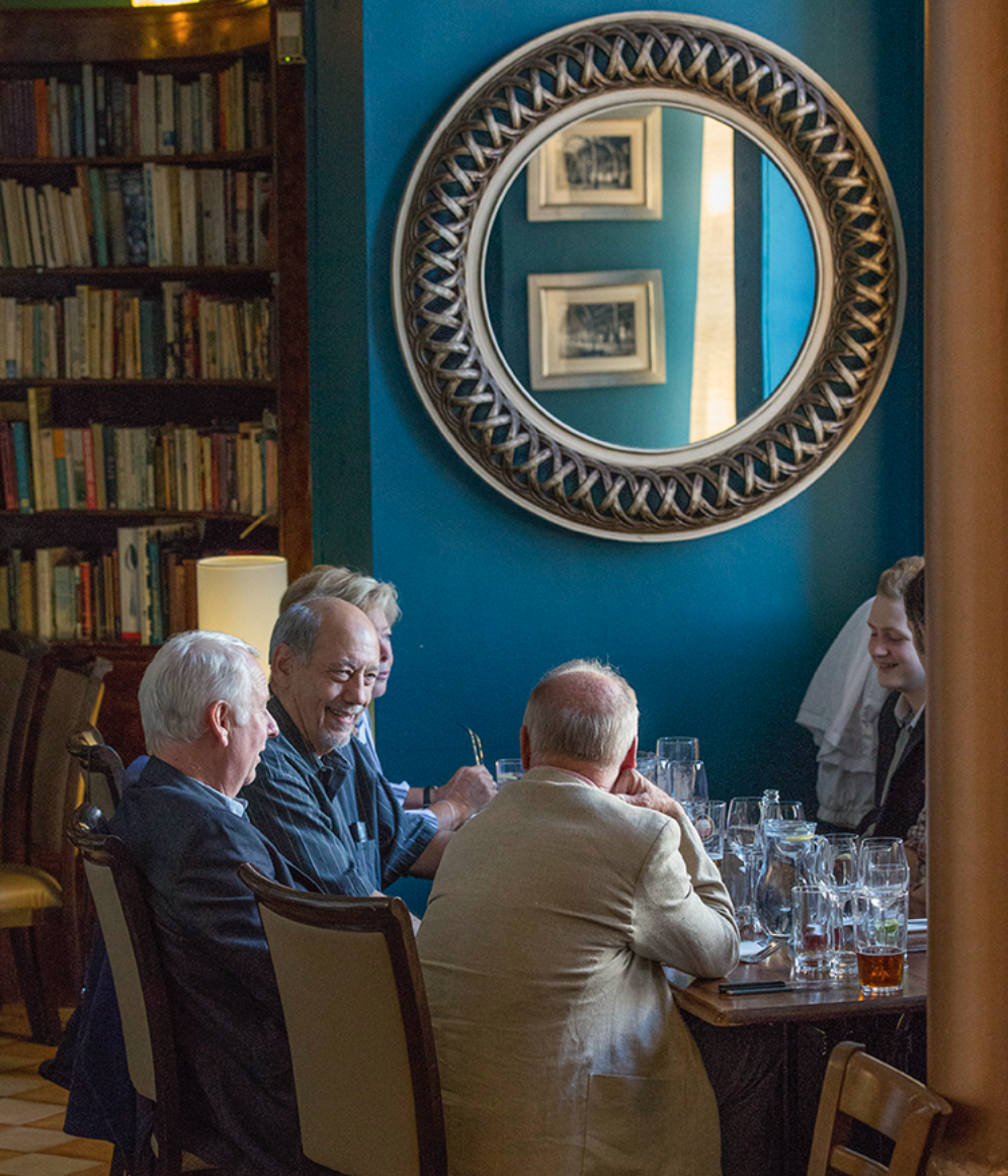 The cosy Library area of Green Park Brasserie, Bath
