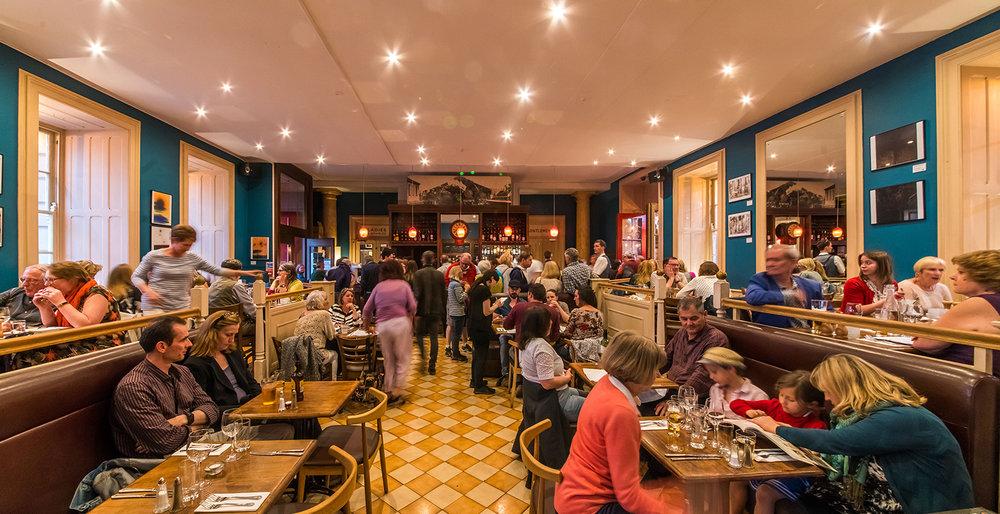 Inside Green Park Brasserie & Bar in Bath