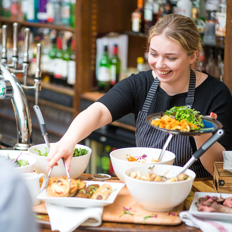 Service at the Brasserie Deli Lunch at Green Park Station in Bath