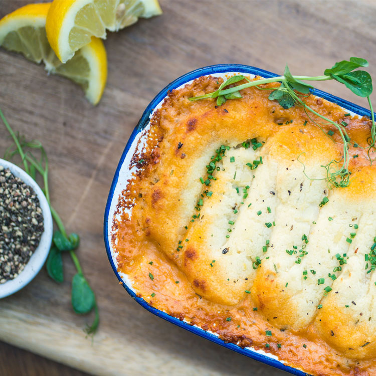 Fish Pie (Salmon, Crayfish & Pollock) from the Brasserie Classics lunch menu