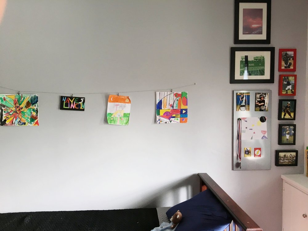 More space to hang artwork
