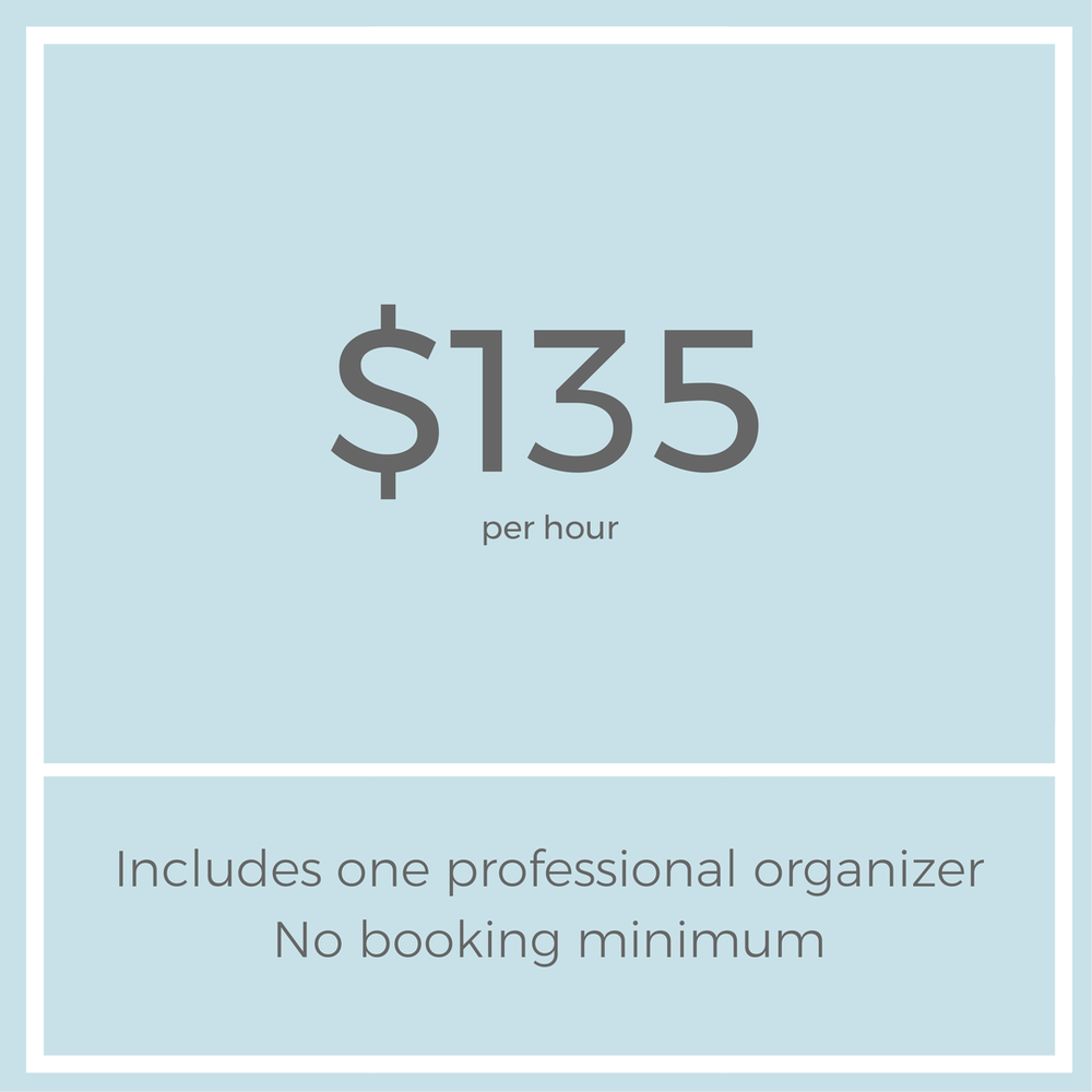 professional organizer los angeles pricing