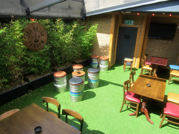 bru house beer garden in dublin 3