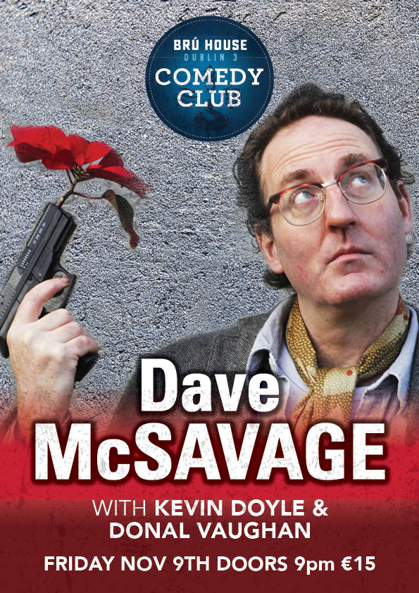 david mcsavage at bru house comedy club