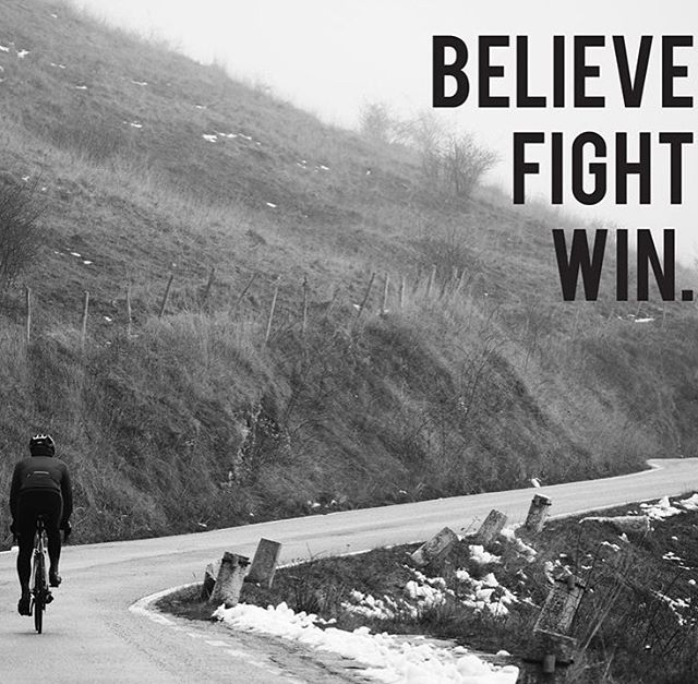 BELIEVE FIGHT WIN.  #ridemem #rideinstyle #cycling #cyclinglife #cyclingapparel #cyclingphotos #bikejersey #cyclingjerseys #cyclingaddict #cyclingpassion #cyclingobsession #cyclingroad #cyclingculture #outsideisfree #cyclingmountain #cyclinglovers #cyclingshot #wtfkits #cannondale #cyclingwear #cyclingstyle #igerscycling #stravacycling #cyclingclothing #cyclinglifestyle