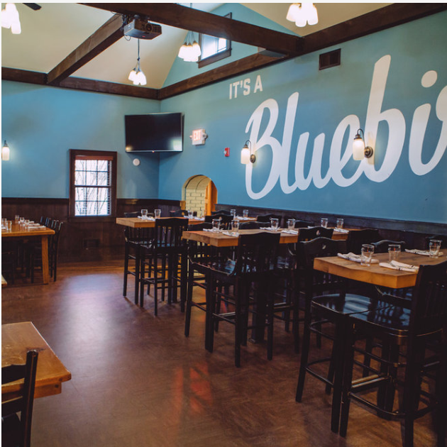 PRIVATE DINING Diverse dining spaces for parties from 15  - 125 at Bluebird Barbecue in Burlington, Vermont.