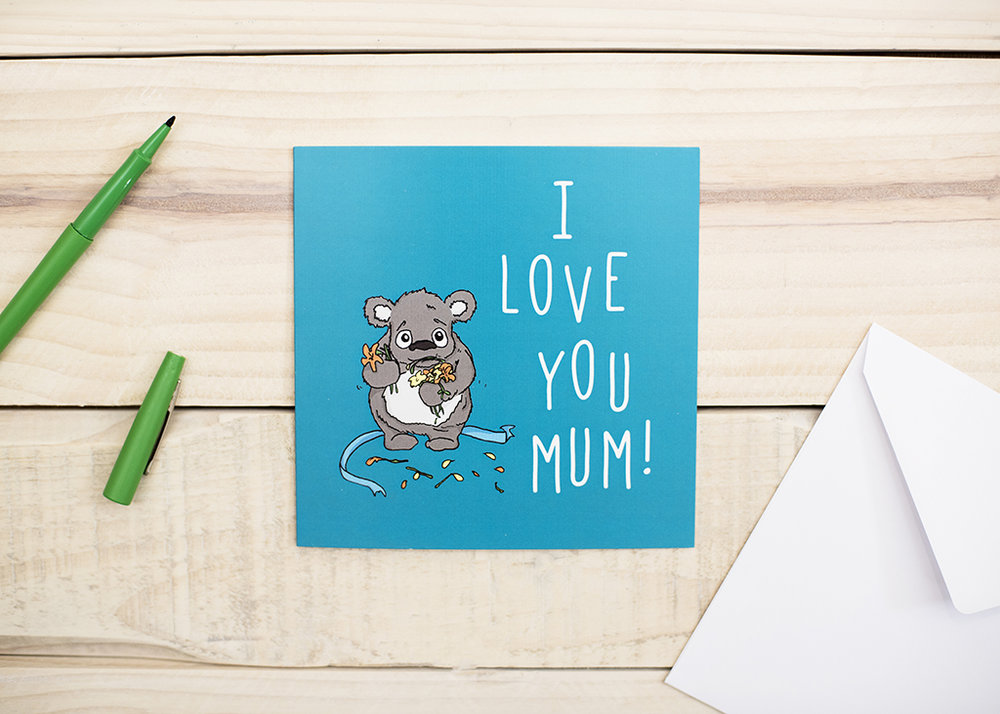 I Love You Mum, mothers day card