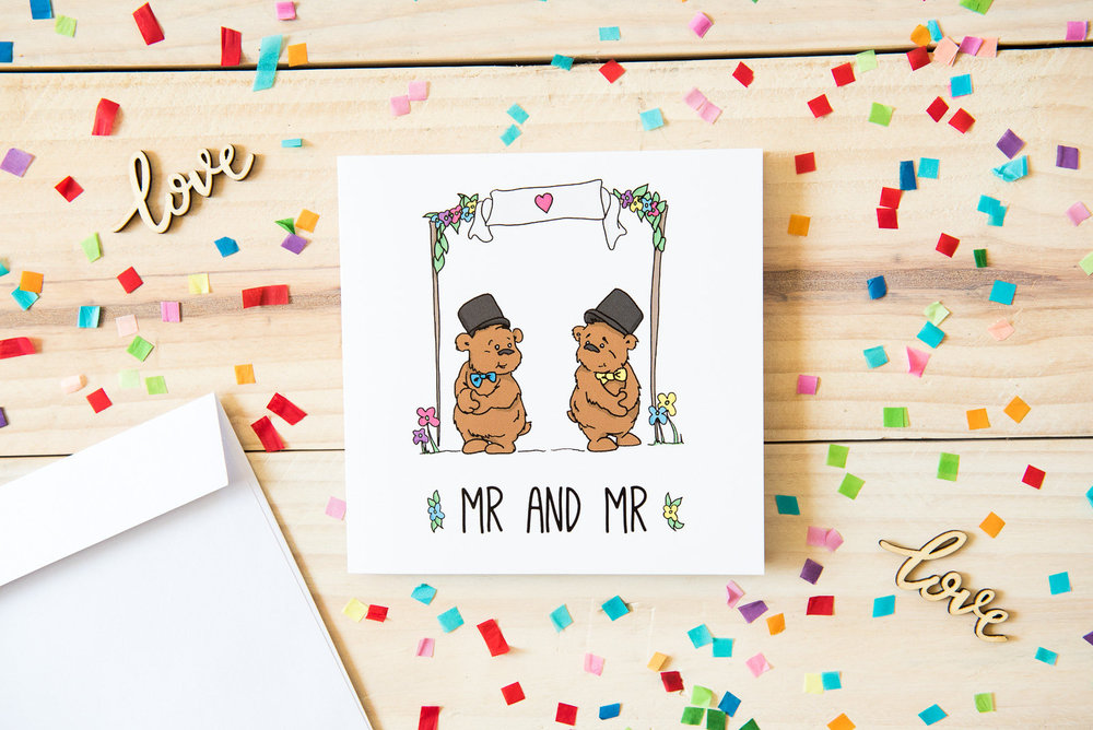 Mr and Mr Wedding Card