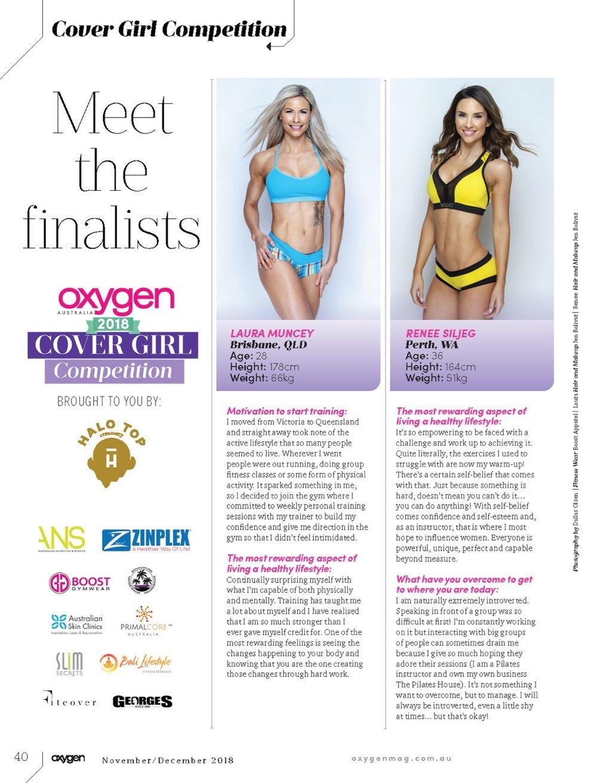 Oxygen Magazine Australia - Covergirl finalist