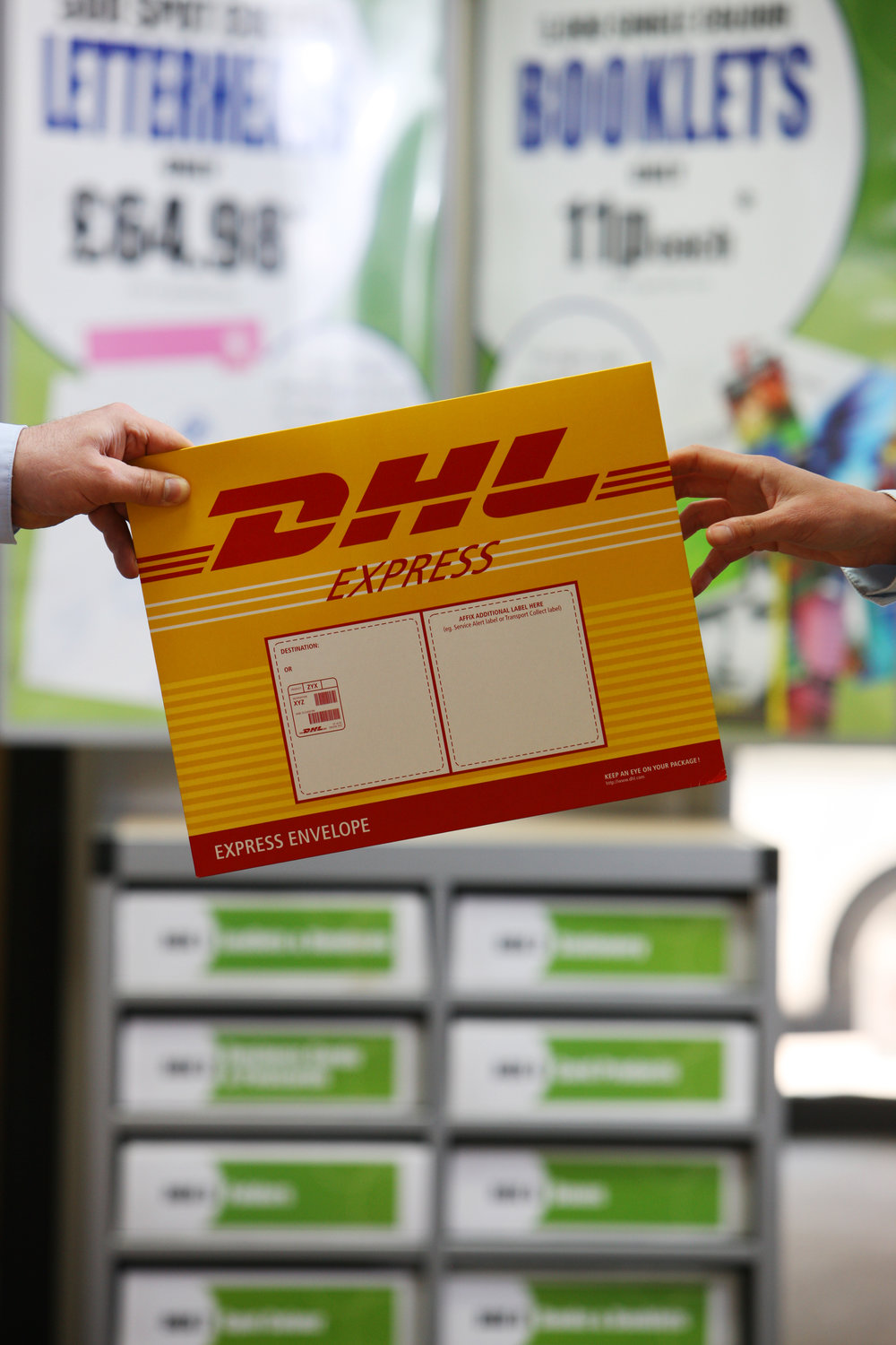 DHL packing and sending