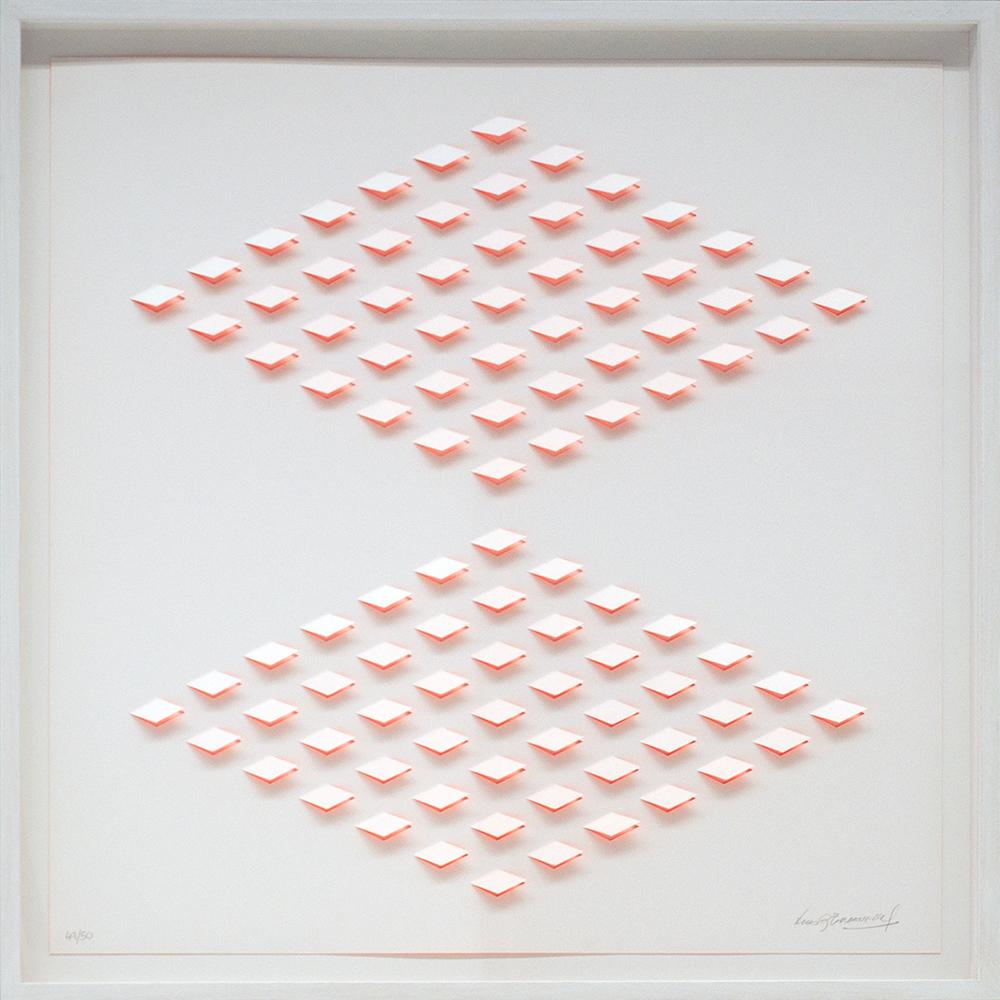 1aa6e250c2fbde Luis Tomasello   st naranja 2a, orange, 2012, hand cut litho, ed50