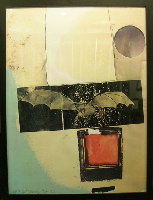 Other Antique Decorative Arts Decorative Arts Russell Intaglio Etching Contemporary Art Abstract Shapes Enthusiastic Mid Century Betty W