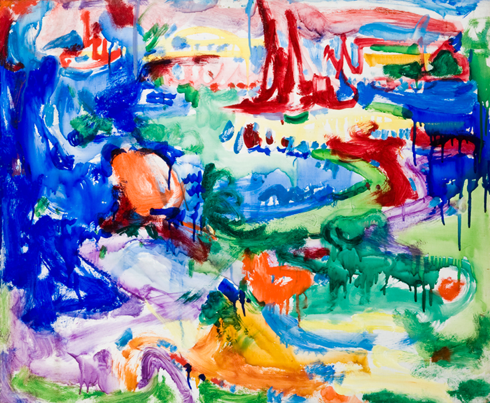 Hans Hofmann : paysage, 1935, casein on panel, 24.7 x 29.6