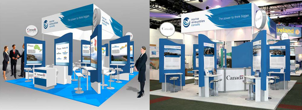 Canada bespoke design and build exhibition stand