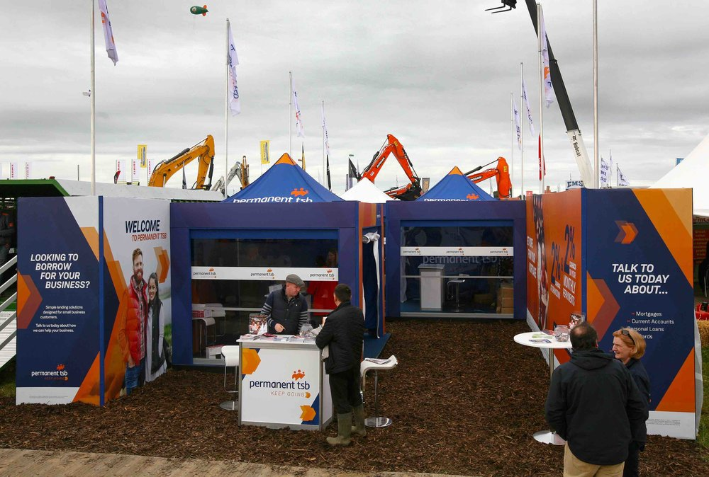 Permanent TSB Exhibition Stand at The National Ploughing Championships 2017