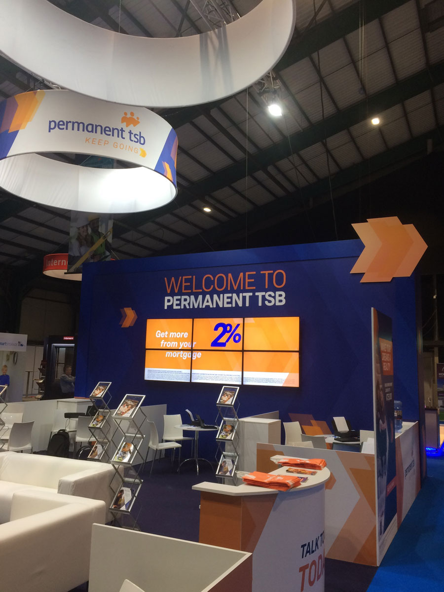 Permanent TSB Exhibition Stand on Ideal Homes Show