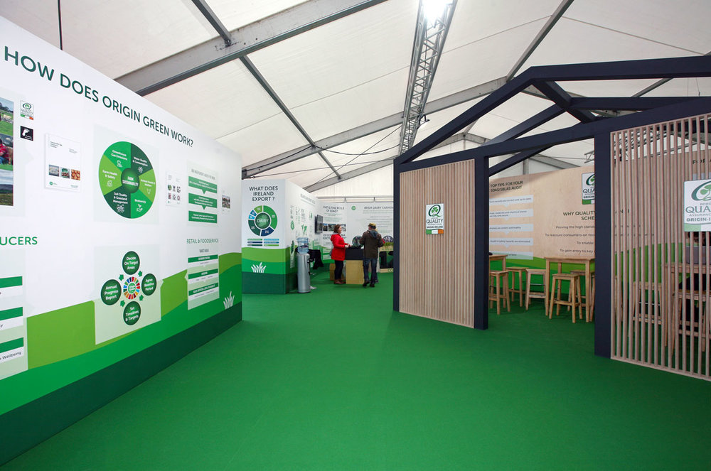 Bord bia unit interiors at the national ploughing championships 2018
