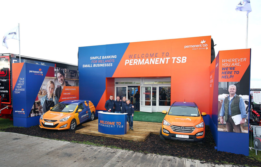 Permanent TSB unit at the national ploughing championships 2018