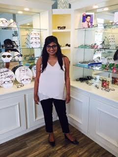 Pooja wearing handmade Res/Rei Italian frames!
