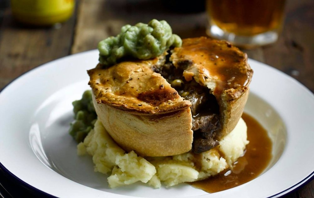 Main Menu - Pieminster pies cooked to perfection, served with our own secret recipe gravy. Home cooked tapas dishes such as shakshuka & mac n' cheese.Plenty of vegan and veggie options too!Give us a call to book, or just turn up!
