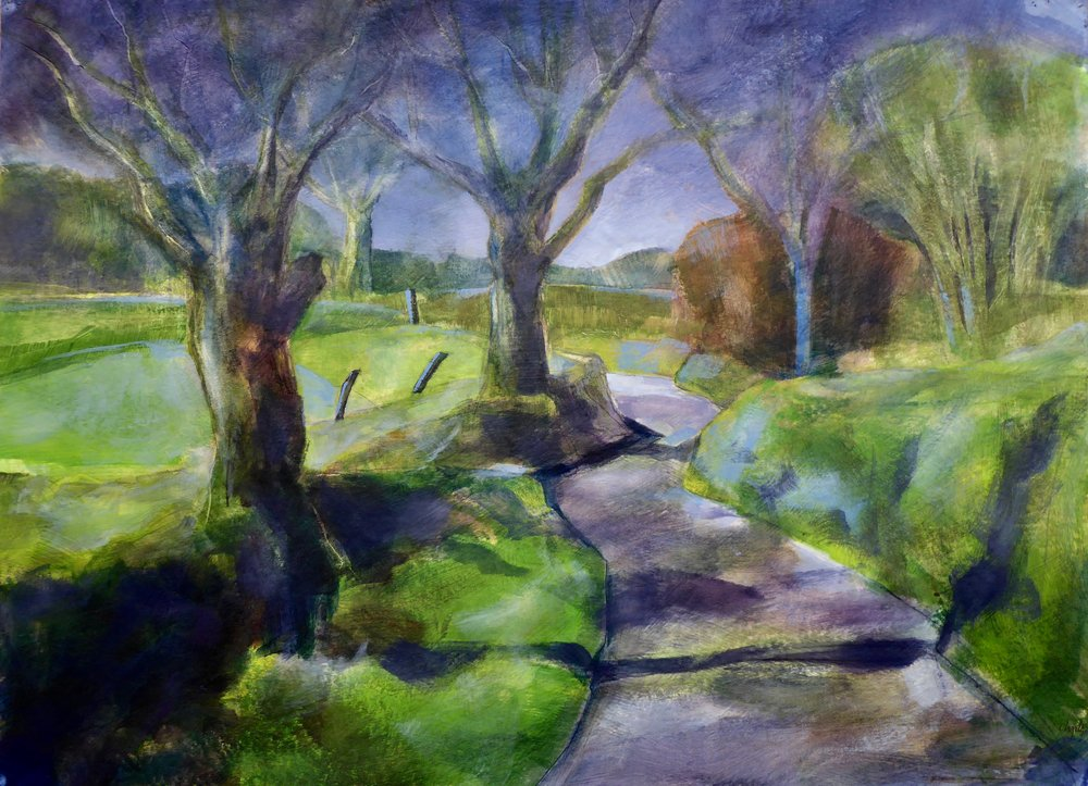 Ash Lane  acrylic on board 75 x 50cm £750