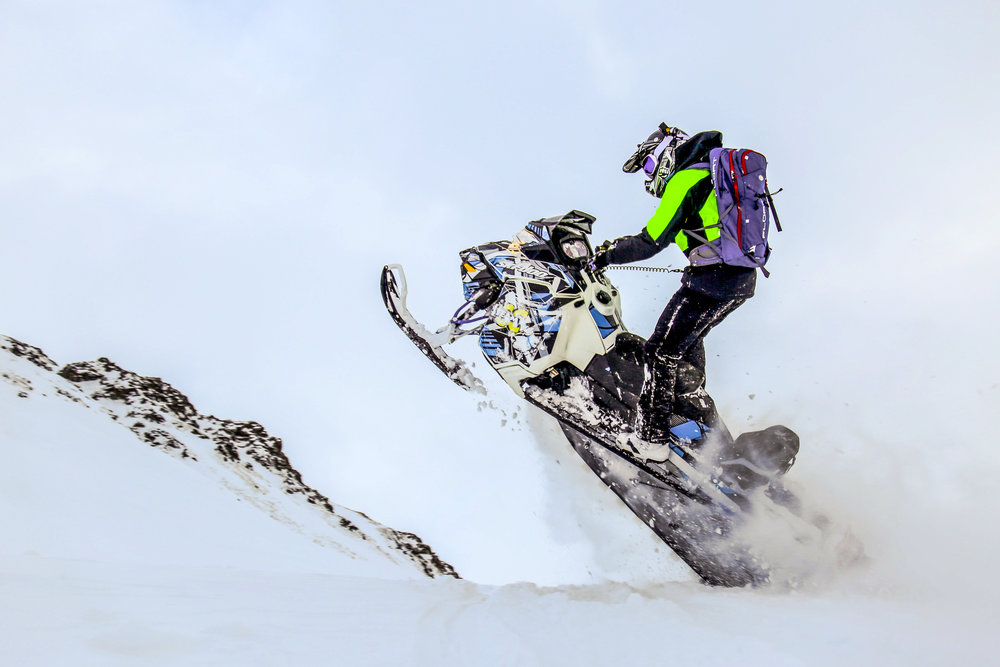 Snowmobile Mountains Suspension