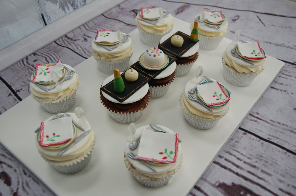 Miniature Dinner Table Cupcake Platter